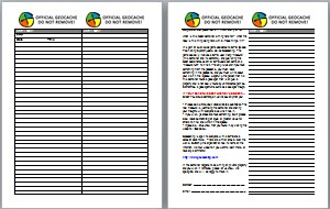 image regarding Geocache Log Strips Printable identify Geocaching log sheets term